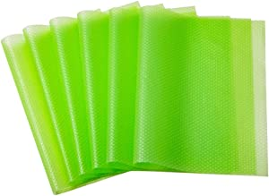 Bloss 6 Pack Shelf and Drawer Liners, Non Adhesive, Non Slip, Durable, Waterproof, Can be Cut, Multifunctional for Shelves, Drawers, Cabinets and Desks-17.7 inches × 11.4 inches, Apple Green