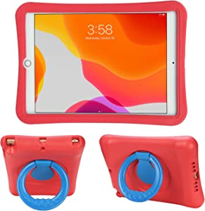 HDE iPad 8th Generation Case for Kids Rotating Shock Proof iPad Cover 7th Generation 10.2 - iPad 10.2 Kids Case with Handle Stand for 7th 8th Generation Apple iPad - Red