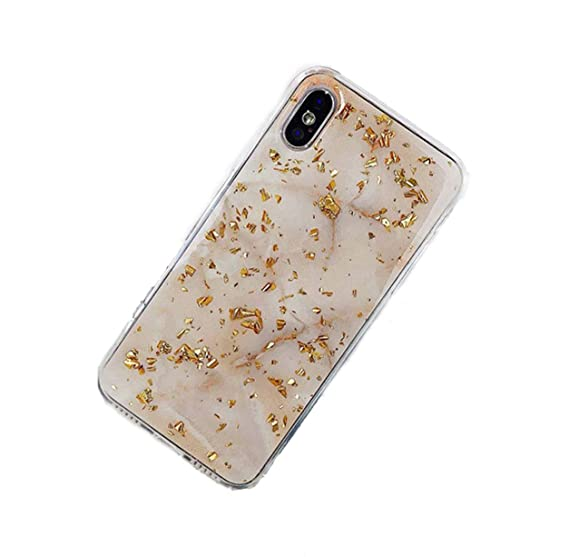 84d4e56d81 Image Unavailable. Image not available for. Color: Gold Foil Bling Marble Phone  Case for iPhone X XS Max XR ...