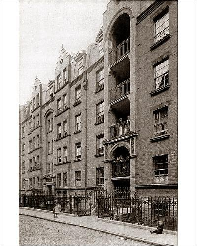 Photographic Print Of Guinness Lodging Houses  Lever Street  London