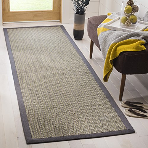 Safavieh Natural Fiber Collection NF444A Herringbone Grey Brown and Grey Sisal Area Rug (2