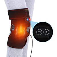 DOACT Heated Massage Knee Brace Wrap, Adjustable Heated and Massage Knee Heating Pad Thermal Heat Therapy Wrap Hot Compress for Cramps Arthritis Muscles Pain Relief Injury Recovery for Men and Women