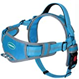 ThinkPet No Pull Harness Breathable Sport Harness - Escape Proof/Quick Fit Reflective Padded Dog Safety Vest with Handle Back