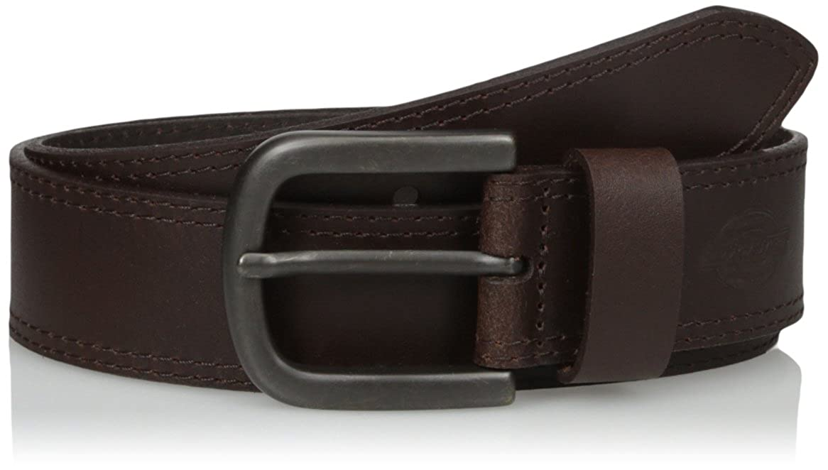 Dickies Mens Leather Belt Stitch Image 3