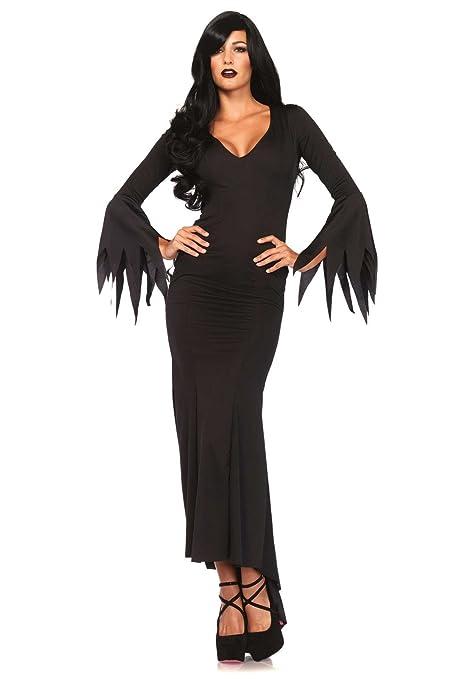 Leg Avenue piso-longitud del vestido del traje gótico (Small/Medium, Negro