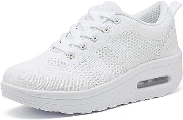 Zapatillas cuña Mujer Deportivas cuña Mujer Zapatos Deporte Gimnasio Zapatillas de Running Ligero Sneakers Cómodos Fitness Zapatos de Trabajo: Amazon.es: Zapatos y complementos