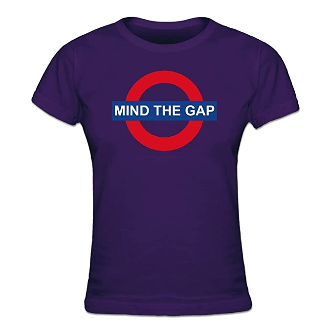 Shirtcity Camiseta de Mujer Mind The Gap by: Amazon.es: Ropa y accesorios