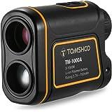 TOMSHOO Telémetro de Golf 600m/1000m 7x 24mm Multi-Modo Medir Distancia Altura Ángulo y Velocidad USB Recargable Ideal para Caza Golf Montañismo Aventuras (VERSIÓN NUEVA)