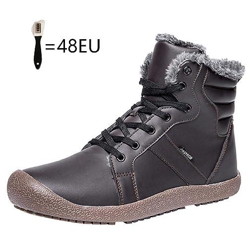 QUICKLYLY Botas para Hombre Calzado De Protección Zapatos Botines Impermeables De Algodón Deportivos De Matorral Cortas De Nieve De Invierno: Amazon.es: ...
