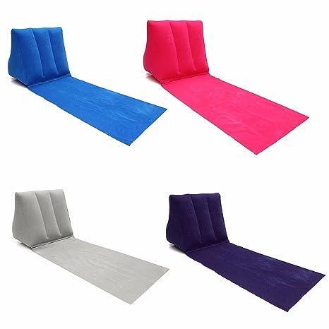 Camtoa Chill Out de viaje hinchable tumbona, PVC Inflar Mat con ...