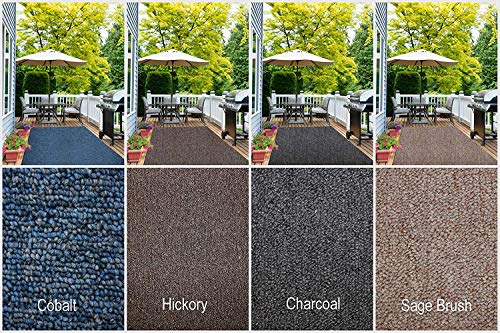 Sage 2'6 X 10' Runner - Indoor - Outdoor Area Rug Runners. Great Solution for Covering Decks, Balconies, Patios, etc. Multiple Colors (2' x 10', Sage Brush)