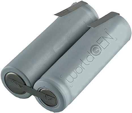 Batería de repuesto worldgen® 700 mAh 2.4 V 49 x 14 mm para ...
