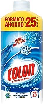 TALLA 25 dosis. Colon Detergente Ropa Líquido Gel Activo - 25 dosis