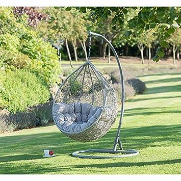 86d8f2c2a Silla de jardín para colgar en forma de huevo de Siena cómoda ideal para  uso diario de los niños: Amazon.es: Jardín