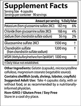 Doctors Best | MSM Glucosamina Condroitina con OptiMSM | 360 cápsulas vegetales | sin gluten y soya: Amazon.es: Salud y cuidado personal
