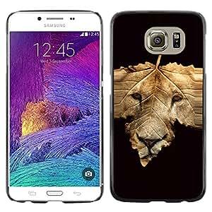 TopCaseStore / la caja del caucho duro de la cubierta de protección de la piel - Abstract Lion Face - Samsung Galaxy S6 SM-G920