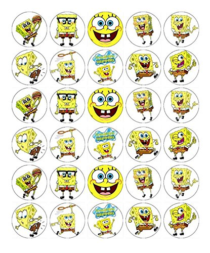 SpongeBob SquarePants Cupcake Toppers Edible Wafer Paper BUY 2 GET 3RD FREE -