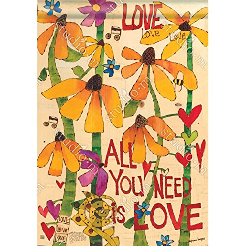 Magnet Works, Ltd. All You Need is Love BreezeArt Standard Flag (Love Pole)