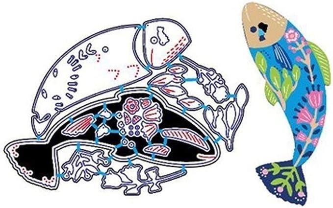 Amazon.com: Colorful Fish Cyprinus Carpio Metal Cutting Dies Stencil For DIY Scrapbooking Decorative Embossing Suit Paper Card Die Cutting