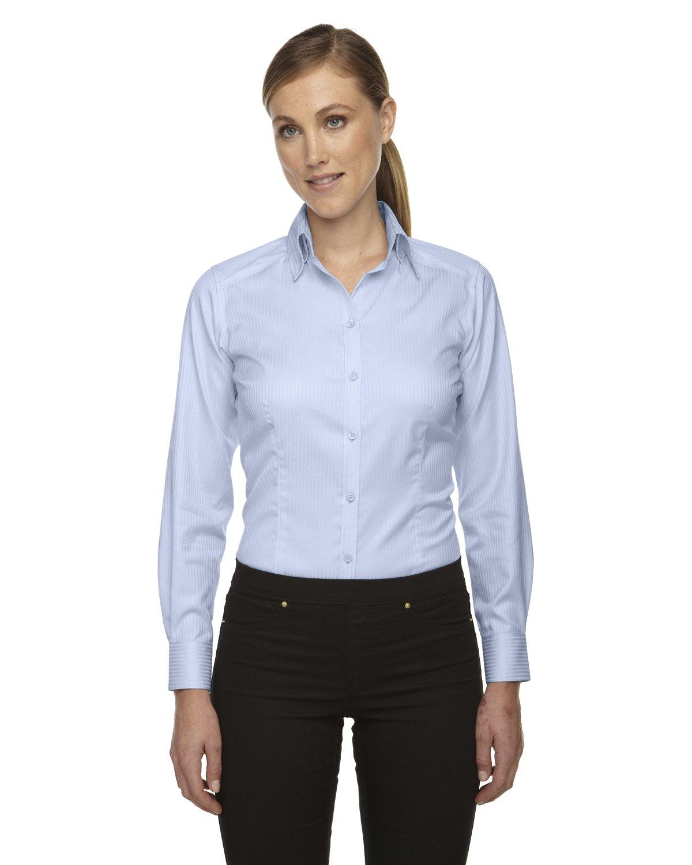 Ash City Ladies Jacquard Shirts (Small, Cool Blue) by Ash City Apparel