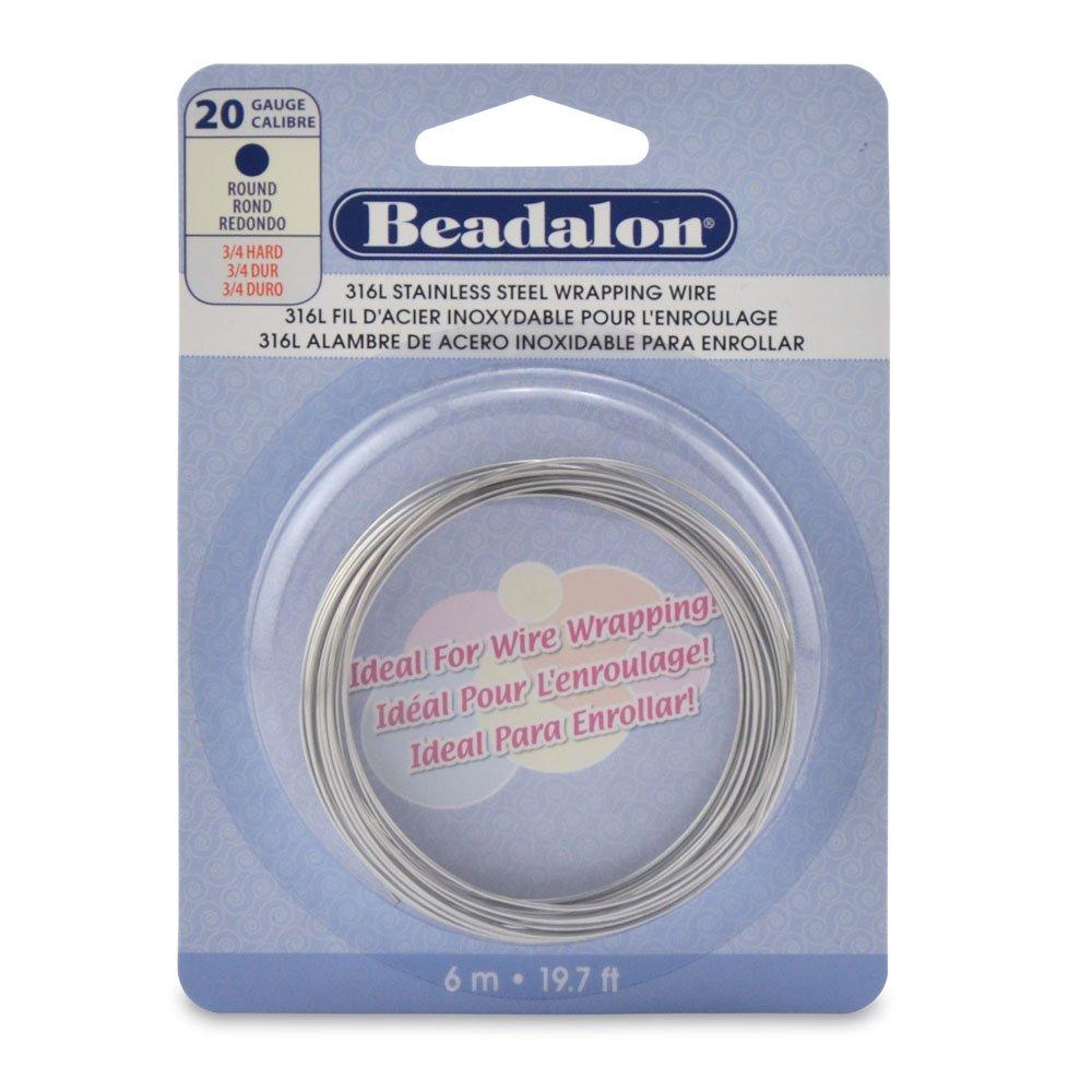 Beadalon 316L Stainless Steel 6 m 20 Gauge Round Wire 180S-020