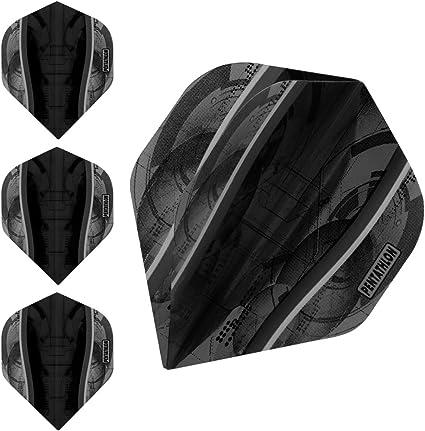 Pentathlon Silver Edge Standard Dart Flights 1-10 Sets Thick Plain