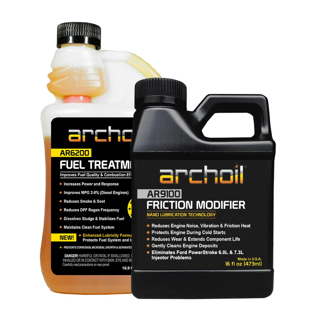 Archoil Performance Kit P-1 for All Vehicles - 16oz AR9100 Friction Modifier + 16oz AR6200 Fuel Treatment by Archoil