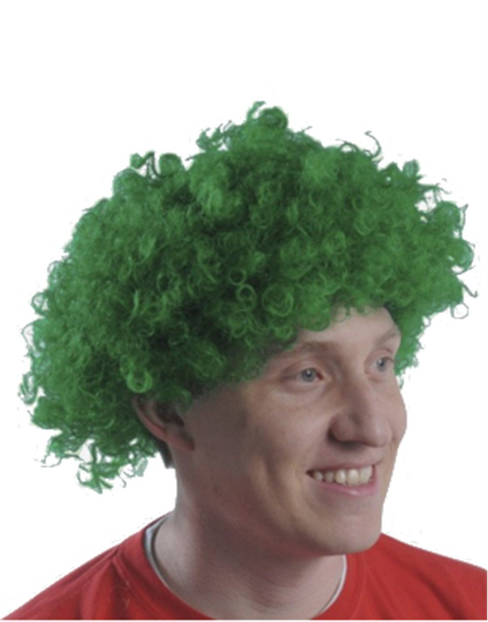 New Mens Womens Child Costume Green Afro Disco Wigs
