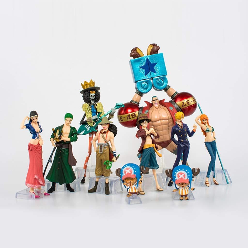TCLGLEI Anime One Piece 2 Jahre nach Lufei Qiaoba Advance Welt Artikel Strohhut Legion 10 Hand 9-19cm Dekoration Puppe Auto Dekoration Plastik Puppe Szene Dekoration Anime Hand tun Cartoon Monste