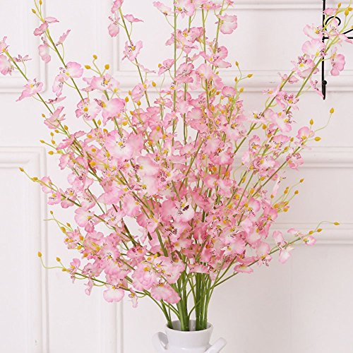 Artificial Lily Silk Flowers Decoration Desk Ornaments Gifts (Pink) - 2