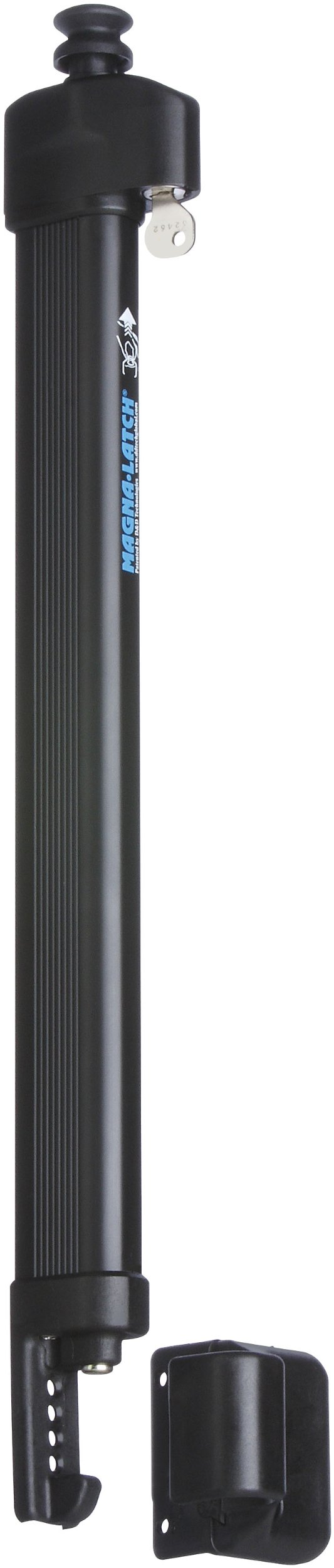 Stanley Hardware S836-205 CD6207 MagnaLatch Top Pull in Black, For Gates 48'' and Taller