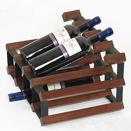 GYH Botellero Mesa de Madera Maciza + Laminado en frío Rojo Vino ...