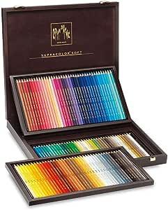 Caran Dache Supracolor 120 lápices de colores en caja de madera Multi: Amazon.es: Oficina y papelería
