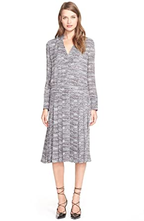 78c010a4 Image Unavailable. Image not available for. Color: Tory Burch Women's  Marble Print Silk Midi Dress In Tory Navy Marble B Size 12