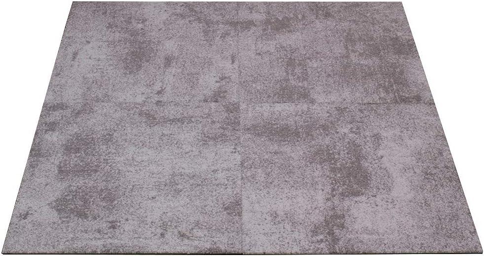 Farben:Braun Objekt Teppichfliesen Beton-Optik Fliese Gewerbe Teppich 50x50cm