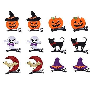 NUOBESTY Pinzas para el Cabello de Halloween, Pinzas para el ...