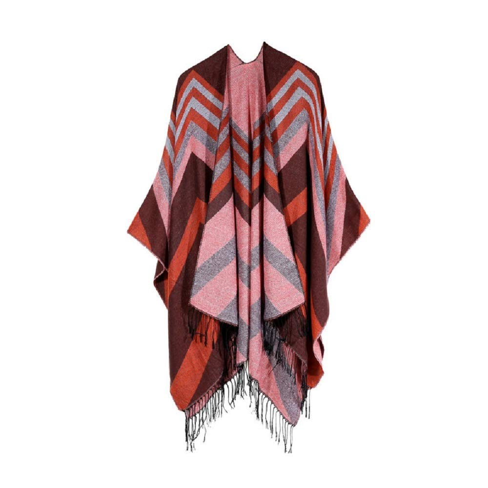 Excellent Women's Fall Winter Scarf Cloak Tassel Cape Mantle Scarf Ardent Mild Kerchief Wrap Shawl Scarves (Color : Orange, Size : 51.1 x 59.06 Inch') by Excellent
