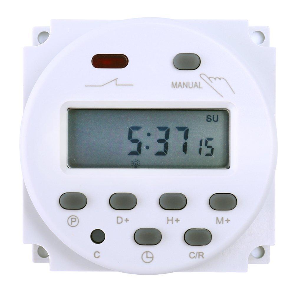 Favolcano cn101 dc 12v 16a digital lcd power programmable timer favolcano cn101 dc 12v 16a digital lcd power programmable timer time switch relay amazon sciox Gallery