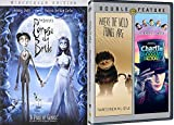 Charlie and the Chocolate Factory Tim Burton & Where the Wild Things Are + Corpse Bride DVD Set / Classic Family Movie Bundle Triple Feature