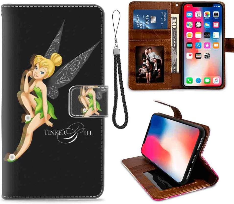 DISNEY COLLECTION Apple iPhone Xr (6.1 Inch) Wallet Case Fairy Black Green Tinker Bell