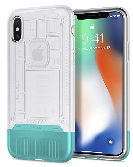 buy popular cee50 fc731 Spigen Classic C1 [10th Anniversary Limited Edition] Designed for iPhone X  Case (2017) - Snow
