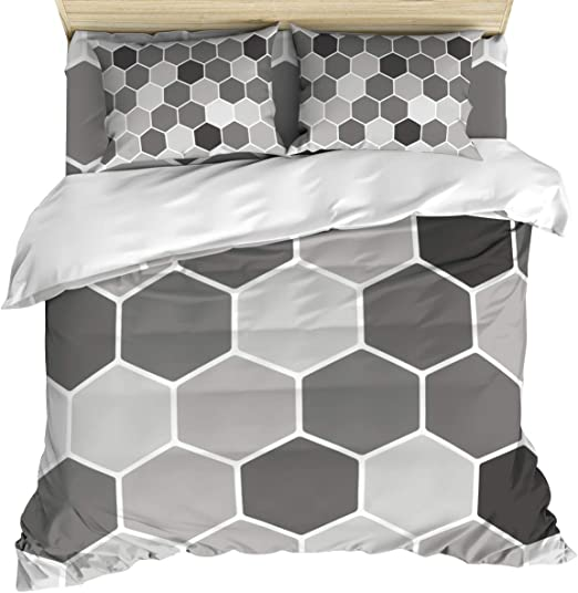 4 PIECE DUVET QUILT COVER WITH PILLOW CASE FLAT SHEET BEDDING SET FOR ALL SIZE