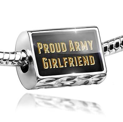 d0fe9839e Amazon.com: NEONBLOND Charm Proud Army Girlfriend - Bead Fit All European  Bracelets: Pandora Charms Military: Jewelry