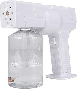 0-20μm Cordless Fogger Machine Disinfectant,Handheld USB Rechargeable ULV Electric Sprayer Nano Atomizer,Truly FINE Mist, Not Wet/Water,Suitable for Home Office School Garden Outdoor