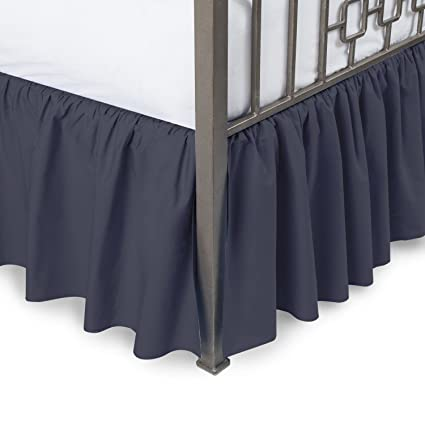 Amazon Com Harmony Lane Ruffled Bed Skirt With Split Corners Twin