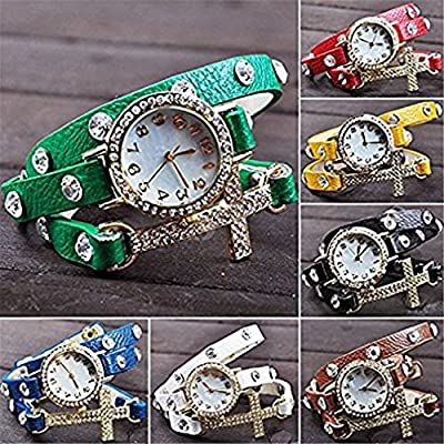 PromiseU Fashion Cross Bracelet Watch Quartz Movement Wrist Watch