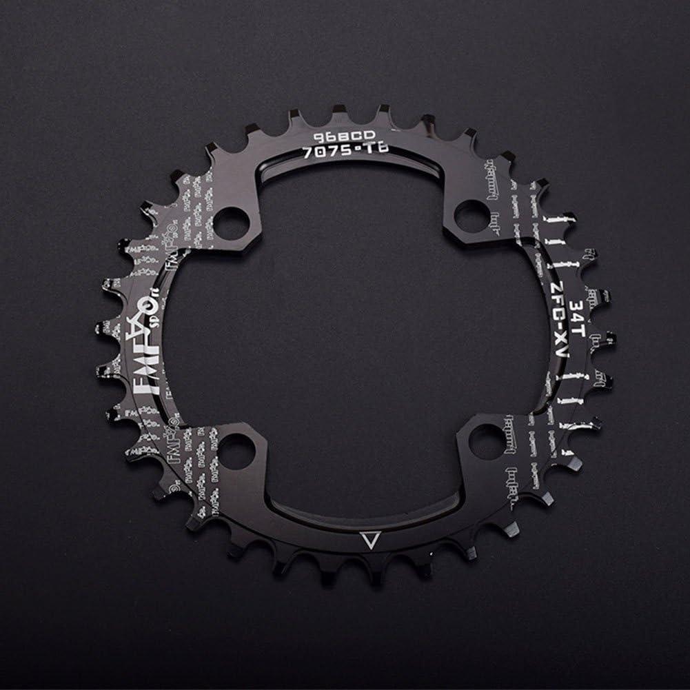 Yiwa Disco de Bicicleta Placa de engranaje positivo y negativo de 96BCD Placa de disco de velocidad única / placa dental modificada ovalada