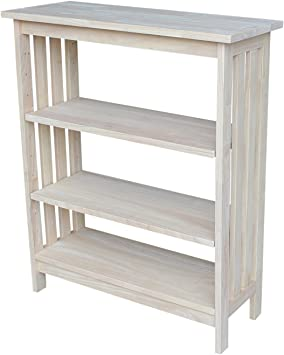International Concepts X-Sided Shelf Unit 4 Tier Unfinished