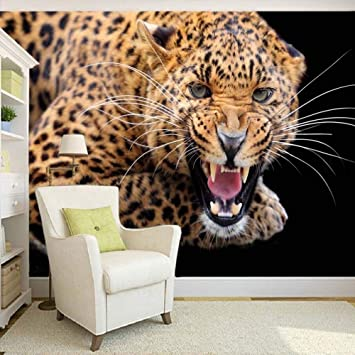 Amazon.com: Custom 3D Photo Wall Paper Cheetah Wall ...