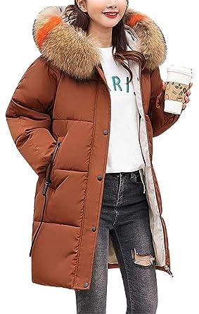 029bf2e65 Amazon.com: Fensajomon Womens Faux Fur Hooded Longline Loose Plus ...